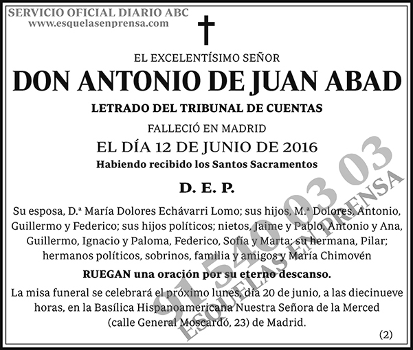 Antonio de Juan Abad